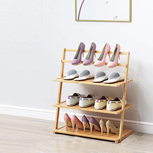 SioHopio Wooden Shelves Home Shoe Organiser Shoes Storage Shelf Shoe Tower for Home Bedroom 3Tier50cm