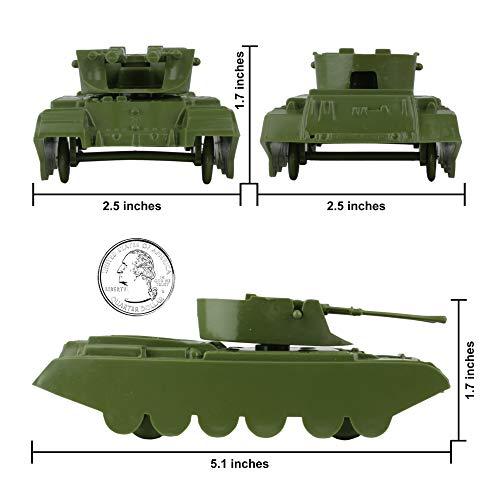 BMC Classic Payton Anti-Aircraft Tanks - 4pc Tan Green Plastic Army Men Vehicles