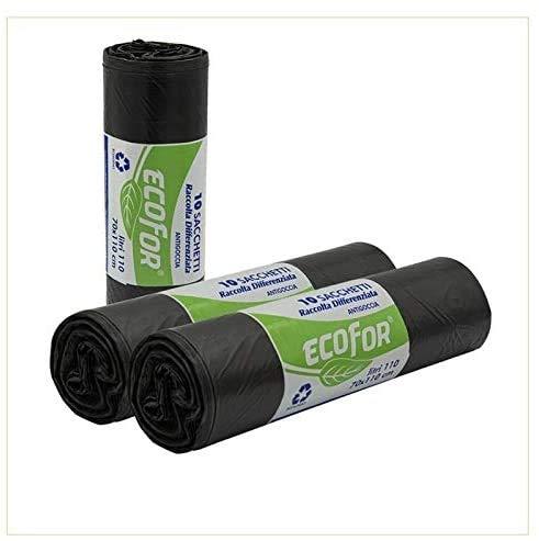 Virsus Sacchi spazzatura colore NERO per raccolta indifferenziata immondizia cm 70x110 (110 litri) 100 pezzi
