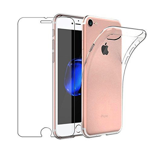 Leathlux Cover Compatibile con iPhone 6S e iPhone 6 Custodia con Pellicola Protettiva in Vetro Temperato