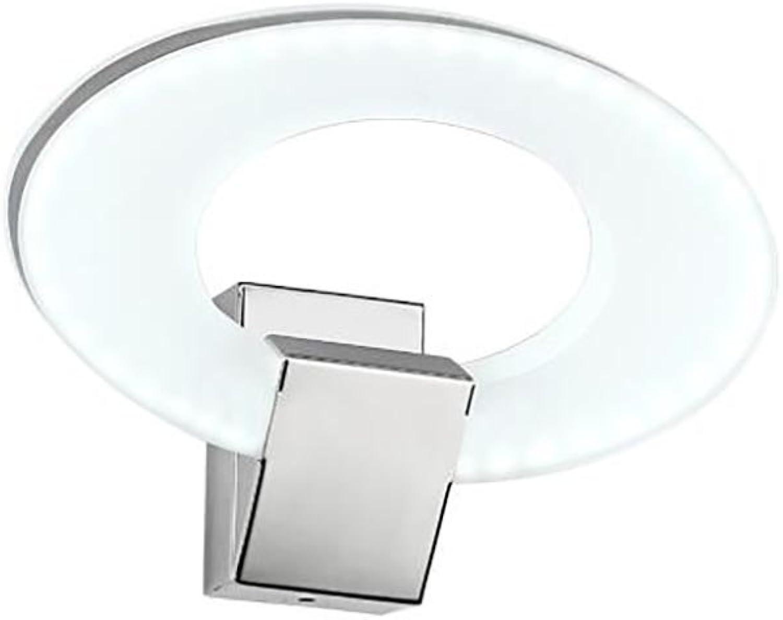 Yhz@ LED Acryl Edelstahl Spiegel Frontleuchte Schlafzimmer Badezimmer Badezimmer Spiegel Lampe Wandlampe (Farbe   Single head(7W Weiß))
