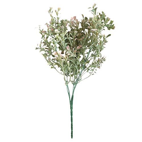 SJHQ Ewige Rosen Künstliche getrocknete Blumen künstliche gefälschte Blume kleine frische Blätter Graspflanze Bouquet Künstliche Blumen für Qualitätsdekor Kunstblumen