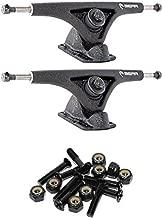 Bear Trucks 181mm Grizzly Gen 5 852 Degree Tarmac Black Textured Skateboard Reverse Kingpin Trucks - 7.0