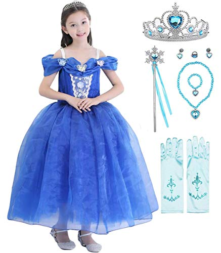 Fanessy Girls Frozen Cenicienta vestido con capa nios princesa vestido Cosplay disfraces nios disfraz fiesta Navidad Halloween fiesta