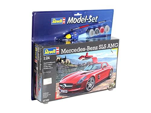 Revell Modellbausatz Auto 1:24 - Mercedes-Benz SLS AMG im Maßstab 1:24, Level 4, originalgetreue Nachbildung mit vielen Details, , Model Set mit Basiszubehör, 67100