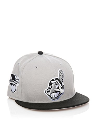 New Era - Casquette Fitted Homme 59Fifty MLB Baycik Alt - Cleveland Indians - Taille 7 1/4