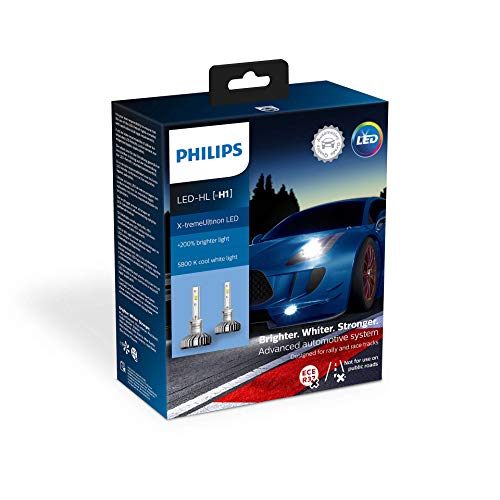 Philips automotive lighting 11258XUX2 X-tremeUltinon LED Lampadina fari Auto (H1), 6.500K, Set di 2
