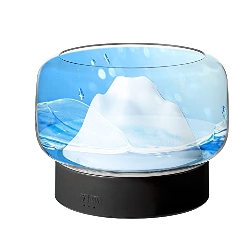 Aroma Diffuser 400ml für ätherische Öle und Duftöl |Aida| Luftbefeuchter Schlafzimmer transparent Defuser Luft für Essenzen, Raumduft Elektrisch Aromatherapie 7 Farben LED