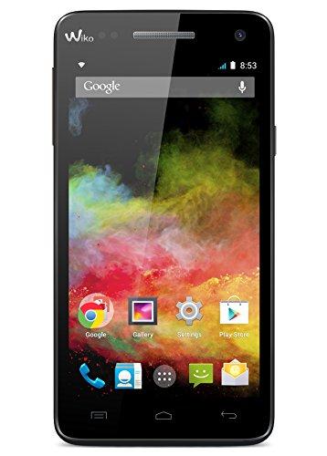 Wiko 9411 Rainbow 4G LTE Smartphone (12,7 cm (5 Zoll) HD IPS-Display, 1,3GHz Quad-Core Prozessor, 8 Megapixel Kamera, 2 Megapixel Frontkamera, 8GB interner Speicher, 1GB RAM, Android 4.4.2 KitKat) schwarz