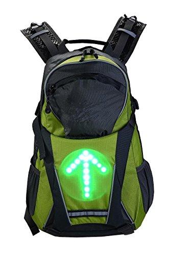 Rucksäcke mit integriertem LED-Richtungsanzeiger und Handsender 15336 Sicherheit (grün)