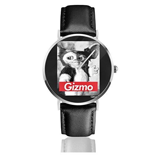 Unisex Business Casual Gremlins Gizmo Relojes Reloj de Cuero de Cuarzo