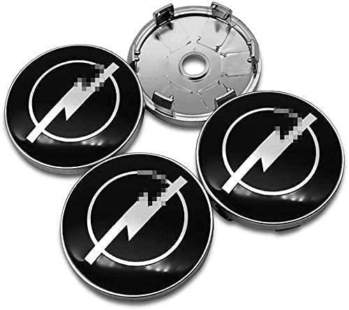 Tapas de centro de buje de rueda para automóvil Cubiertas de 60 mm para Opel Astra H G J Insignia Mokka Zafira Corsa Vectra Insignia de repuesto Emblema Cubiertas Decorativas Embellecedores de ruedas