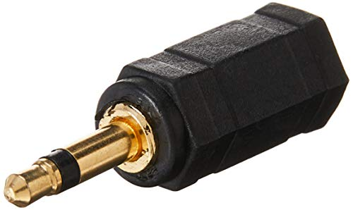Monoprice 107128 3.5mm Mono Plug to 3.5mm Stereo Jack Adaptor, Gold Plated