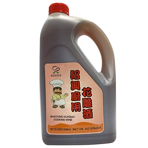 Soeos Shaoxing Cooking Wine 51.24oz (1500ml), Chinese Cooking Rice Wine, Shaoxing Wine for Cooking, Shaoxing Rice Wine, Chinese Cooking Wine, Rice Cooking Wine, Shaohsing Wine, Shao Hsing Rice Wine.