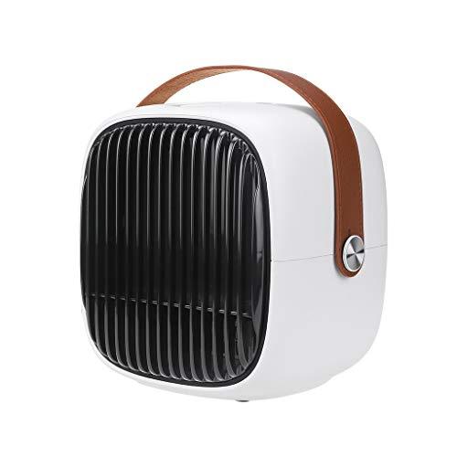 Wash Personal Calentador con termostato Ajustable y Sistema de protección, 3 Modos de Calor, Calentamiento rápido, eléctrico Mini Calentador para el Ministerio del Interior,Negro