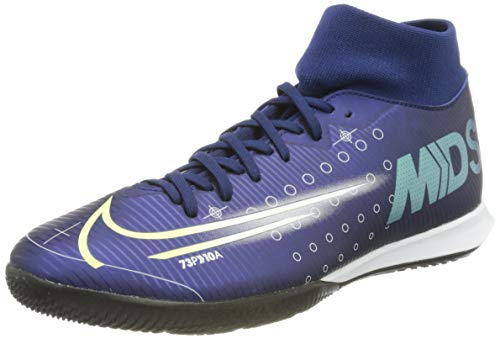 Nike Herren Superfly 7 Academy MDS Ic Multisport Indoor Schuhe, Blau Blue Void Metallic Silver White 100, 41 EU
