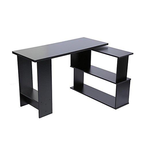 GOTOTOP Escritorio de ordenador, en forma de L, para ordenador portátil, mesa...