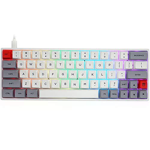 YUNZII SK64 Grey Wired 60% Keys NKRO Gat...