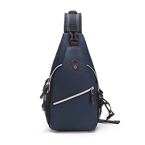 Sac de Poitrine Oxford voyage escalade téléphone portable ipad portefeuille grande capacité sac de la Messenger bag Sling bag , Blue