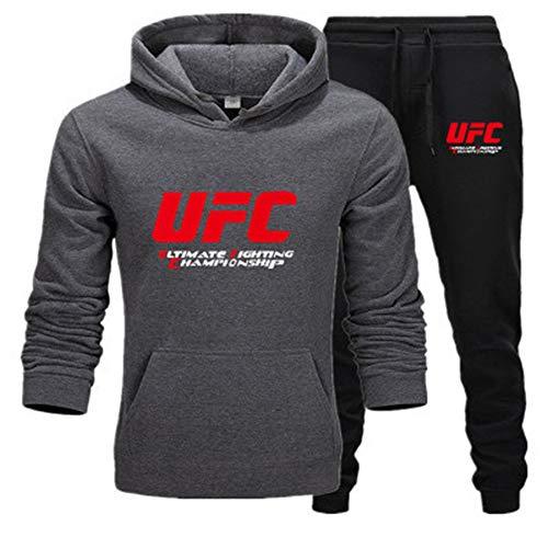 Tweedelig sportkostuum hoodies joggingpak met capuchon herfstkleding + broek voor heren.