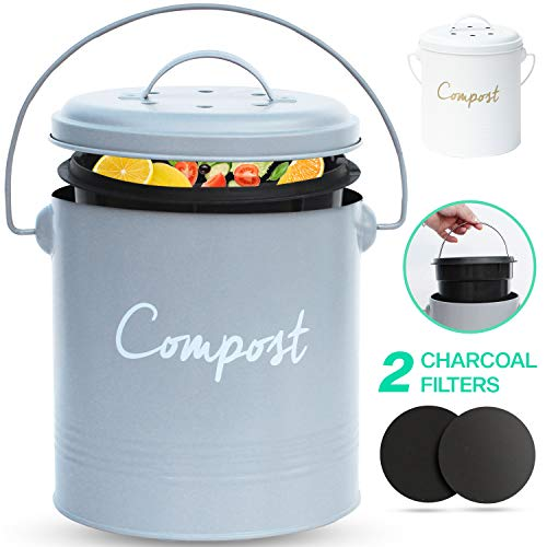 Why Should You Buy COMPOST BIN - Stainless Steel Compost Bin for Kitchen Counter - with Inner Compos...