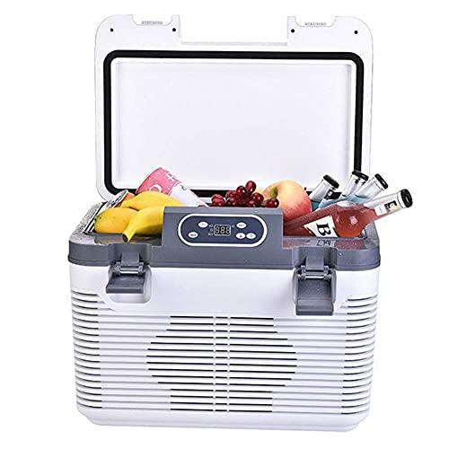 Refrigerador De Coche, Refrigerador De Doble Núcleo, 12 V / 24 V / 220 V, 19L, Caja De Refrigeración Eléctrica para Conducción De Camiones, Viajes, Uso Doméstico, Nevera