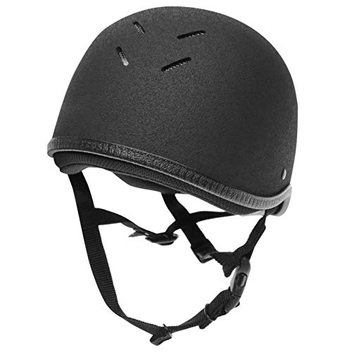 Charles Owen Kinder Young Rider Jockey Skull Helm Junior Schwarz 60cm 3 1/2