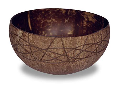 CORIMBA® - Jumbo Coconut Bowl unpolished | Echte Kokosnuss-Schale | 100% natürlich, handgefertigt & plastikfrei