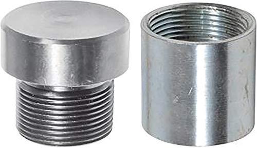 GEKA 19736SB Schlagkopf mit Muffe 1 1/4 Zoll, Silber, 18 x 8 x 13 cm