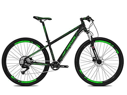 Bicicleta Aro 29 Venzo Aquila 11v Hidráulico K7 e Trava Preto com Verde 17