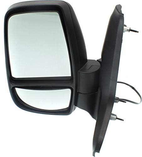 Kool Vue FD335EL Power Mirror compatible with Ford Transit Van 15-17 Left Side Manual Folding Non-Heated Medium/High Roof Textured Black