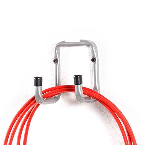Gerätehalter Doppel Haken aus Stahl U-Profil 8x12cm Halter Wandhaken Haken Gerätehaken Allzweckhaken Leiterhaken