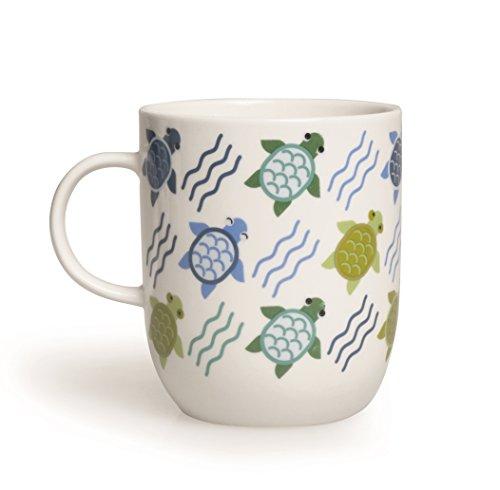 Excelsa Animals Tasse, 400ml, aus Porzellan, Farbe: Weiß Schildkröte 8.9x8.9x10.6 cm Weiß/bunt