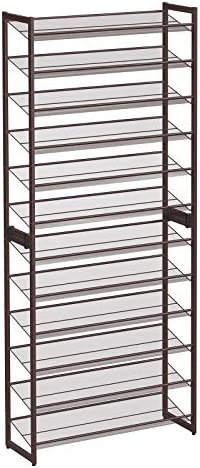 SONGMICS 12 Tier Shoe Rack Set of 2 Stackable 6 Tier Shoe Organizers 48 60 Pairs of Shoes Large product image