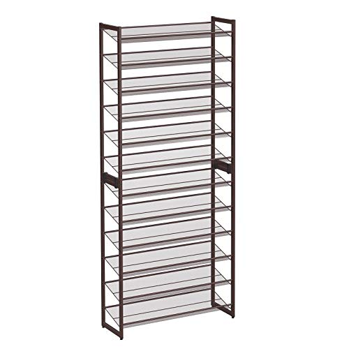 SONGMICS 12-Tier Shoe Rack, Set of 2 Stackable 6-Tier Shoe...