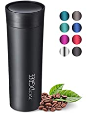 "720°DGREE Travel Mug ""PleasureToGo"" - 450ml - Leakproof, BPA-Free Stainless Steel Thermo Cup for Coffee & Tea to Go with Lid - Vacuum Insulated Flask - For Hot & Cold Drinks When- & Wherever you Want"
