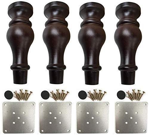 Patas de madera maciza para muebles, patas de madera, patas de madera, repuesto para sofá, silla, mesa de café (18 cm)