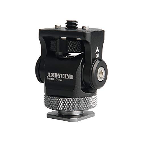 ANDYCINE Soporte para zapata caliente con pasador de localización para monitor Atomos Ninja V de 5 pulgadas solo