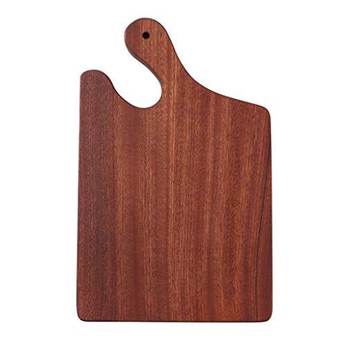 Holz Pizza Tablett Ebony Serviertablett Schneidebrett Mit Griff Und Sink Pizza-Platte for Steak Schneiden Von Brot Kuchen (Size : 42 * 24cm)
