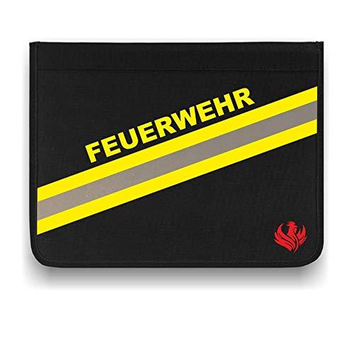 Roter Hahn 112 Hochwertige Feuerwehr Schreibmappe Organizer Konferenzmappe HUPF Design Reflex
