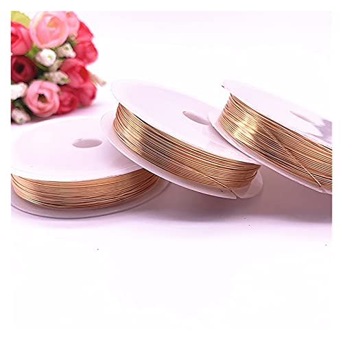 YRYPVD DIY craft Retention Copper Wires Beading Wire for Jewelry Making for DIY Nail Art, Jewelry Beading (Color : Copper, Size : 0.4mm(8m))
