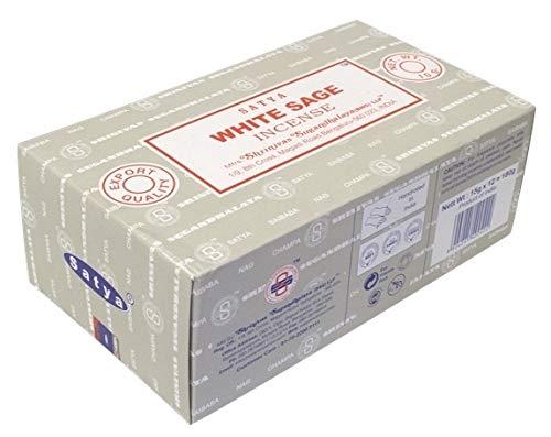 Encens nag champa satya - sauge blanche - 15 grs