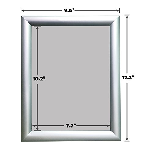 Aluminum Snap Frame for Poster 8.5 x 11 Inches, 25mm Profile, Color Silver Photo #3