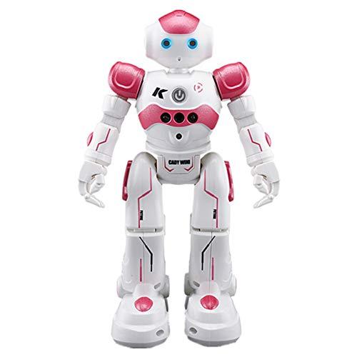 RC Smart Robot Toy Gesture Sensando Robot Programable Personalizador Inteligente Robot Kit LED Ojos Caminando Dancing Cantando Regalo para Niños Niños Niños,Rojo