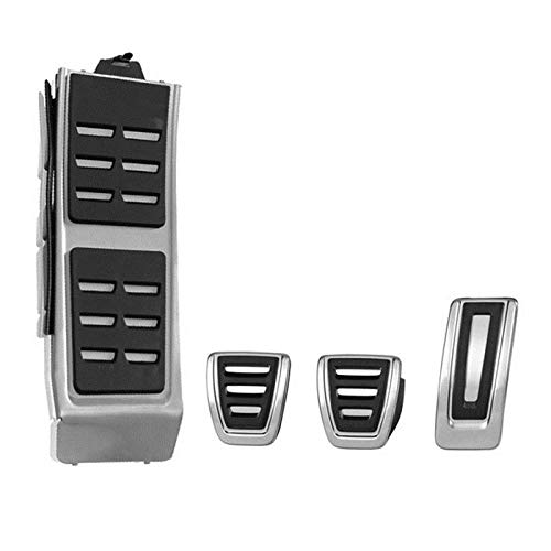 ZJHYSDQ Pedal Pedalkappen Edelstahl Pedale Pedal Fuel Bremse Fußbett Gaspedal BremspedalAuto Pedal, für Audi A4 B8 S4 RS4 Q3 A5 S5 RS5 8T Q5 8R