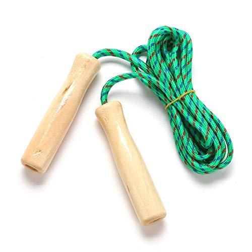 LXF JIAJU Soltando la Cuerda Manija de Madera Saltar la Cuerda 2.5M Cuerdas de Salto para Estudiantes Fitness Training Deporte Juego