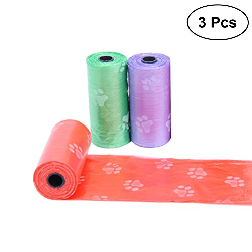 UEETEK 3 Pcs Kotschaufeln Tüten Hund Waste Poop Müllsäcke Müllbeutel Kotbeutel für Haustier (Zufällige Farbe)