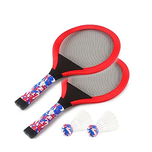 FENGXU Raquetas de Bádminton para Niños Brillante Duradero Juego de Raqueta de Bádminton LED para Principiante Deportivas al Aire Libre y Bajo Techo