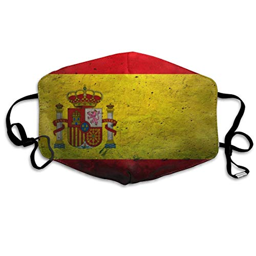 Spaanse Vlag Steen Unisex Volledige Coverage Buis Gezicht Masker Bandanas UV Bescherming Hals Gaiter Hoofdband