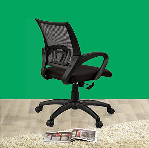 Casa Copenhagen, Collection OZ - Ergonomic Computer Office Super Soft Desk Chair Adjustable Mid Back with Lumbar Support Armrest Executive Rolling Swivel - Black
